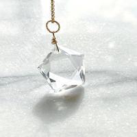 五芒星天然水晶 14kgf レムリア神官の光ペンダント 最高品質