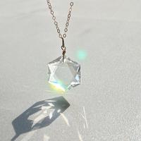 六芒星天然水晶 14kgf虹色の光ネックレス  最高品質〜期間限定送料無料〜