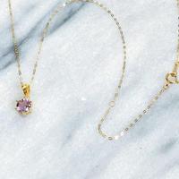 K18 宝石質ラベンダーアメジストネックレスAAA 清らかな愛