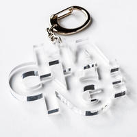 """CHANGE"" key ring(クリア)"