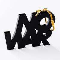 """NO WAR"" key ring"