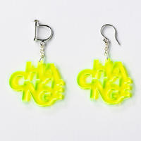 """CHANGE"" earring or pierce(蛍光イエローグリーン/クリア)"