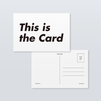 This is the Card / a sheet of 10