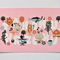 ポストカード(ピンク)
