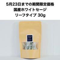 【5月23日までの期間限定価格!ご購入者様限定!500円クーポン発行】自然栽培 国産ホワイトセージ リーフタイプ 30g