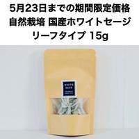 【5月23日までの期間限定価格!ご購入者様限定!500円クーポン発行】自然栽培 国産ホワイトセージ リーフタイプ  15g