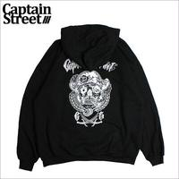 【CAPTAIN STREET】CAPTAIN STREET PIRATE SKULL P/Oパーカー BLACK Lサイズ