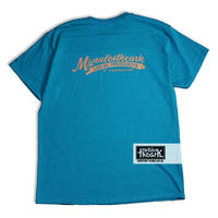 "【ARK】ARK ""local logo""  Tシャツ BULEボディーLサイズ"