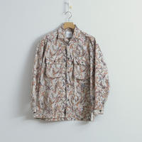 and wander / Printed dry seersucker shirt