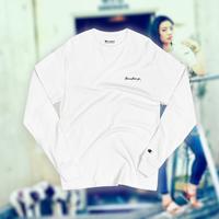THREETEAGO×Champion ロングスリーブTシャツ(刺繍ロゴ)