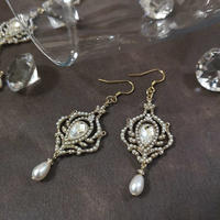 Earrings PE-209-WHITE