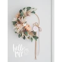 Hallo Fall2020'  Pumpkin Wreath【完成品】
