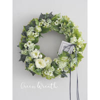 Green Flower Wreath【レッスンキット】★☆ ☆