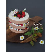 Whip ClayCakeLesson:Strawberry naked Cake!【レッスンキット・動画】★☆☆