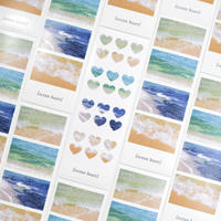 ocean 4cut seal sticker