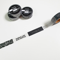 [BONBEING]colletter masking tape BW mix