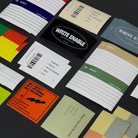 binder deco sticker set (vivid / soft)