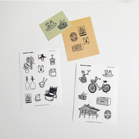 [BONBEING]bon city seoul drawing sticker