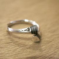 Touareg Silver / Ring02 / Ebony Wood×Silver100%