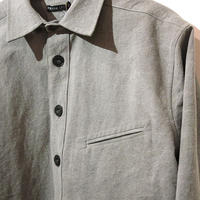 FRANK LEDER CHARCOAL DYED   FLAX  SHIRTS