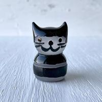 黒猫ハンコ(太ボーダー)