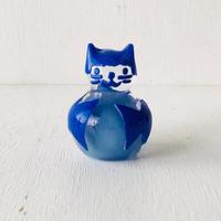 青色猫のちょうちょリボン君 (ペーパーウェイト)