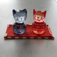 猫のおひなさま(キャッツアイ小紋)