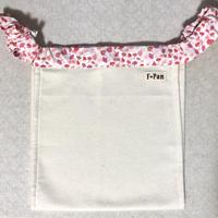ふんどしパンツ【F☆pan】 Sサイズ(生理時もOK) 白ネル 腰紐花柄ピンク