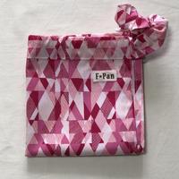 ふんどしパンツ【F☆pan】フリーサイズ 幾何学模様赤(felida fabrics)