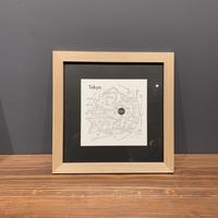 Map in Frame - TOKYO (black on white)