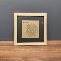 Map in Frame - BLOOKLYN (black on brown)
