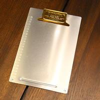 Metal clip board - B5 Brass
