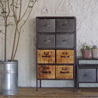IRON WOODEN DRAWER CHEST