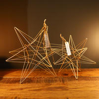 "Wire Ornament Starry ""L"""