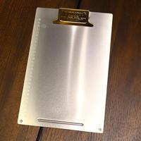 Metal clip board - A4 Brass