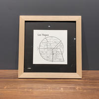 Map in Frame - LAS VEGAS (black on white)