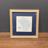 Map in Frame - LOS ANGELS (blue on white)