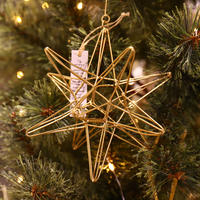 "Wire Ornament Starry ""S"""