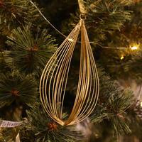 Wire Ornament Teardrop