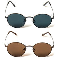 "OVAL"" Metal Sunglasses"