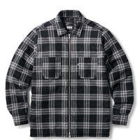 QUILTED LINED PLAID NEL ZIP SHIRT FTC019AWSH04