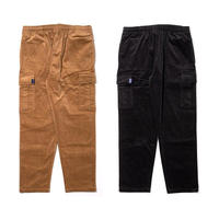 Corduroy Cargo Pants [Black]
