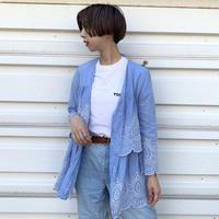 Icy Blue Frilled Top
