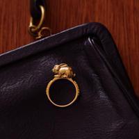ラビットリング_gold-plated & diamond