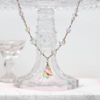 アイリスガラスのネックレス*fan