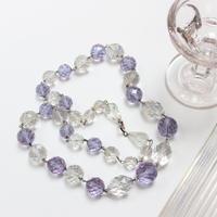 1940s ガラスネックレス*lavender