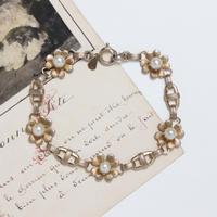 クローバーのブレスレット*faux pearl