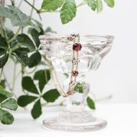 フローラルブレスレット*garnet & diamond