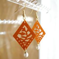 "tirinto "" KATAGAMI"" earrings【新芽×パール】"