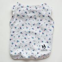 小花柄ナチュラルタンク//ブルー            [フレブル服TiTiTi]